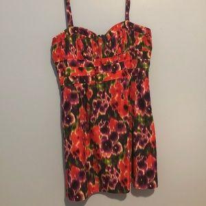 Multicolored Spaghetti Strap Bebe Dress